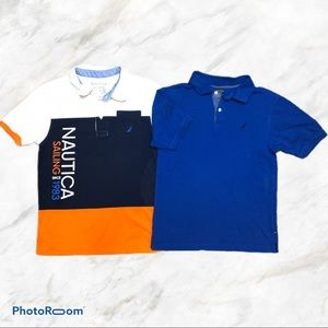 Nautica 2pc Teen Boys Bundle Polo Shirts Size 14